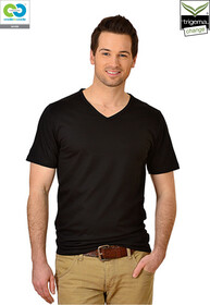 Mens Black V-Neck T-Shirt - 2019