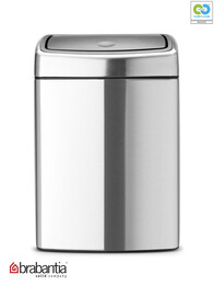 Brabantia - Soft Touch Rectangular Matt Steel Waste Bin - 10L