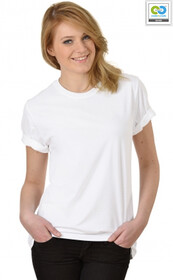Trigema - Women's T-Shirt (RoundNeck-ClassicCut) - 100% Organic Cotton - White 2018