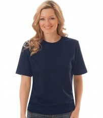 Trigema - Women's T-Shirt (RoundNeck-ClassicCut) - 100% Organic Cotton - Navy 2020