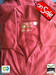Trigema SALE - Womans Medium Sangria Polo T Shirt