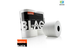 Satino Black - Toilet Paper Rolls (4 x 400sheets per pack)
