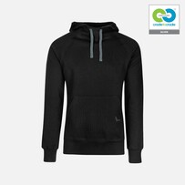 Trigema - Mens Hooded Sweater -100%  Organic Cotton - Black  2019