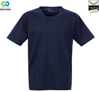 Mens Navy V-Neck T-Shirt - 2019