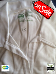 Trigema SALE - Womans XL White Polo T Shirt