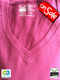 Trigema SALE - Womans XXL Sangria Hooded Sweater