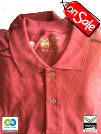 SALE - (ONE ONLY) - Mens Cradle to Cradle Certified™ XXL Sangria Polo-Tshirt