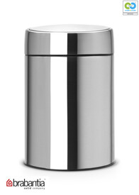 Brabantia - Slide Waste Bin Brilliant Steel - 5L