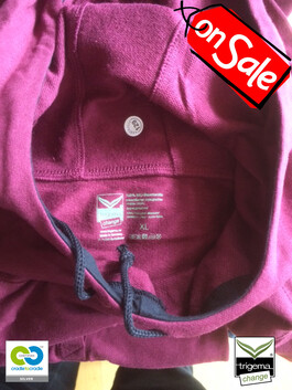 SALE (ONE ONLY) - Mens Cradle to Cradle Certified™ XL Sangria Hooded Sweater