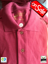 Trigema SALE - Mens XL Sangria Polo T-Shirts