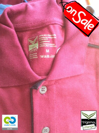 Trigema SALE - Mens Medium Sangria Polo Shirt