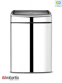 Brabantia - Soft Touch Rectangular Brillaint Steel Waste Bin - 10L