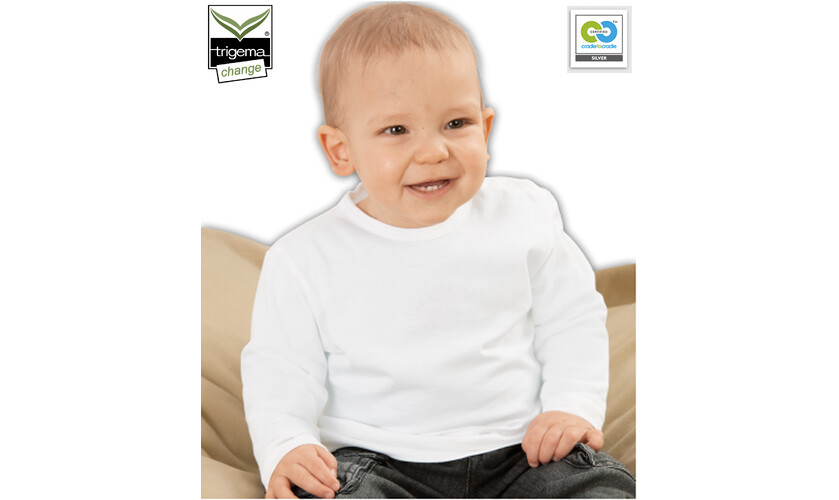 cradle to cradle marketplace trigema 100 organic cotton c2c baby t shirt baby clothing. Black Bedroom Furniture Sets. Home Design Ideas